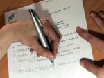 écrire main gauche
