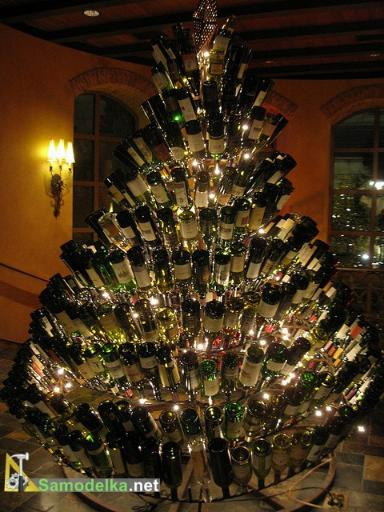 arbre noel bouteilles