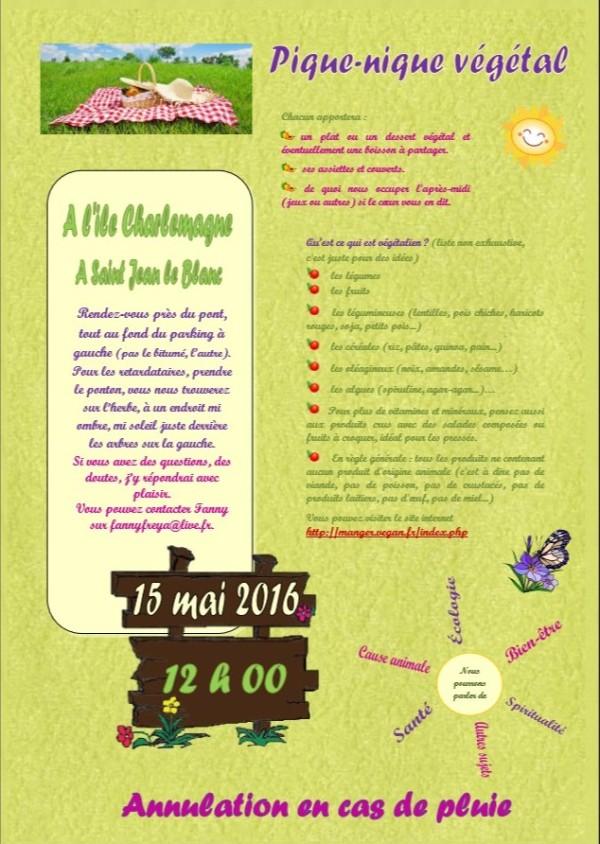 Pique nique végétal du 15 mai 2016